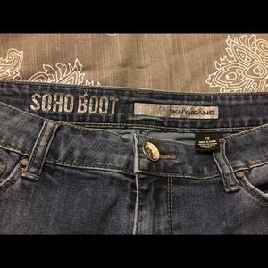DKNY soho boot cut jeans. EUC.
